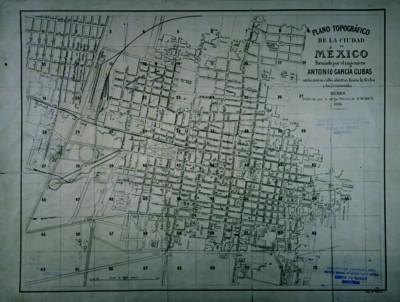 Plano topográfico de la Ciudad de México