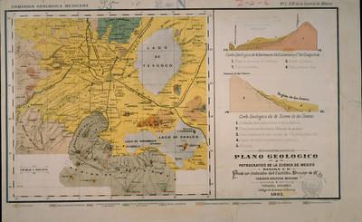 Plano Geológico y Petrográfico de la Cuenca de México