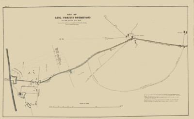 Map of Genl. Worth's Operations on the 20th of Augt. 1847