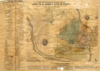 Carta de la Ciudad y sitio de Puebla