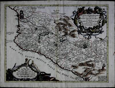 Parte della Nuova Spagna, ó del Mexico dove sono le Provincie di Guadalaira, Xalisco, Mecoacan e Mex