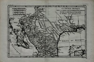 Nouveau Mexique avec la partie septentrionale de I'ancien ou de la Novelle Espagne