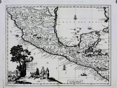Carta Geografica del Messico o sia della Nuova Spagna