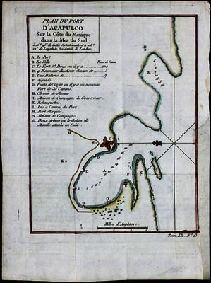 Plan du port d' Acapulco