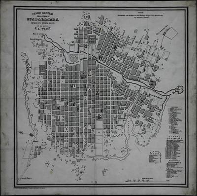 Plano General de la Ciudad de Guadalajara