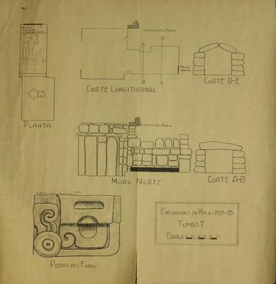 Exploraciones en Mitla. 1933-35. Tumba 7
