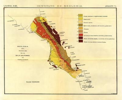 Geología del Distrito Sur de la Baja California