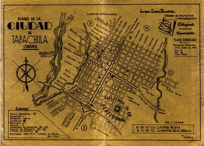 Plano de la Ciudad de Tapachula Chiapas