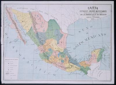 Carta de los Estados Unidos Mexicanos para el uso del primer libro de la Geografía de México