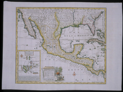 New Accurate Map of Mexico or New Spain together, with California, New Mexico