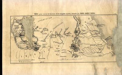 Mapa para servir de itinerario de la conquista española