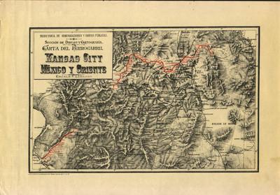 Carta del Ferrocarril Kansas City, México y Oriente