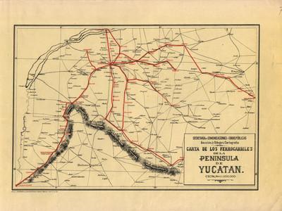 Carta de los Ferrocarriles de la Península de Yucatán