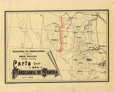 Carta del Ferrocarril de Sonora