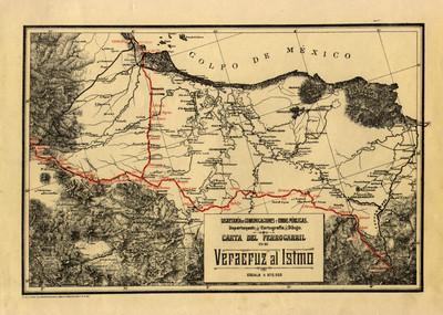 Carta del Ferrocarril de Veracruz al Istmo