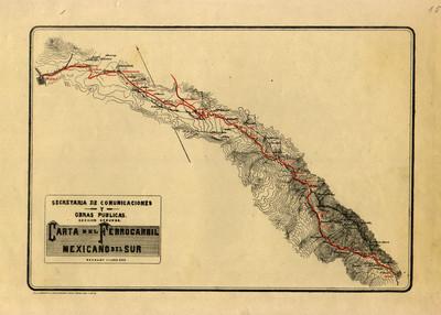 Carta del Ferrocarril Mexicano del Sur