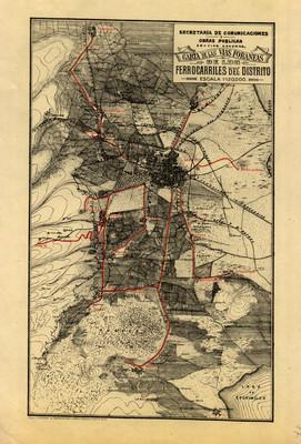 Carta de las vías foráneas de los ferrocarriles del Distrito