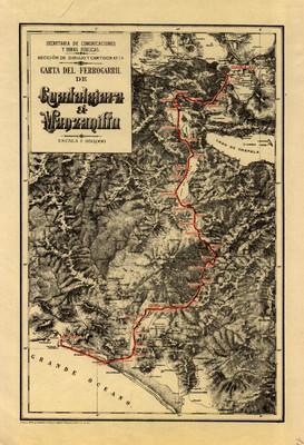 Carta del Ferrocarril de Guadalajara a Manzanillo