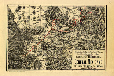 Carta del Ferrocarril Central Mexicano (División del Pánuco)