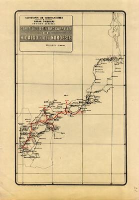 Carta de los Ferrocarriles de Hidalgo y del Nordeste
