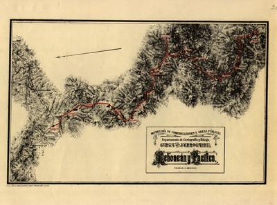 Carta de Ferrocarril. Michoacán y Pacífico
