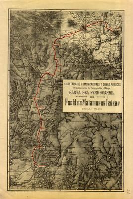 Carta del Ferrocarril de Puebla a Matamoros Izúcar