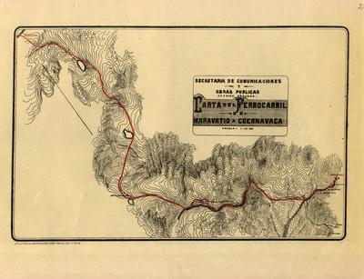 Carta del Ferrocarril de Maravatío a Cuernavaca