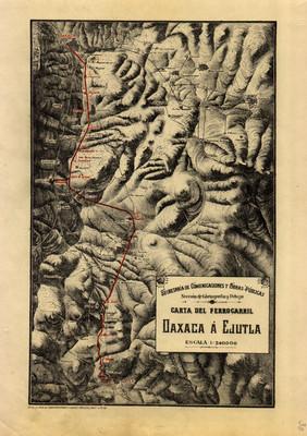 Carta del Ferrocarril Oaxaca a Ejutla