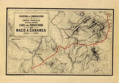 Carta del Ferrocarril de Naco a Cananea