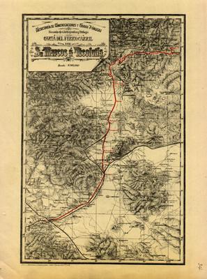 Carta del Ferrocarril de Sn. Marcos a Tecolutla