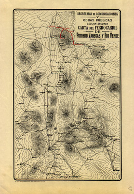 Carta del Ferrocarril de Potrero, Vanegas y Río Verde