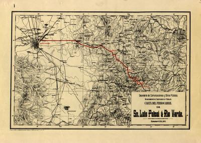 Carta del Ferrocarril de San Luis Potosí a Rio Verde