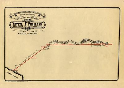 Carta del Ferrocarril Altata a Culiacán