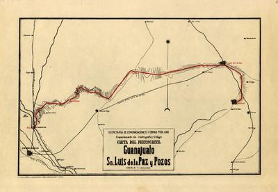 Carta del Ferrocarril Guanajuato, San Luis de la Paz y Pozos