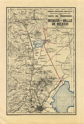 Carta del Ferrocarril del Desagüe del Valle de México