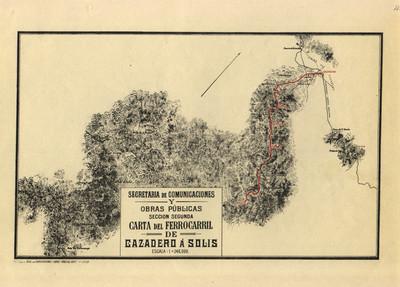 Carta del Ferrocarril de Cazadero a Solis
