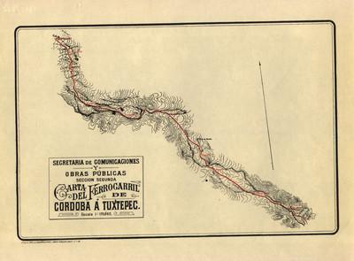 Carta del Ferrocarril de Córdoba a Tuxtepec