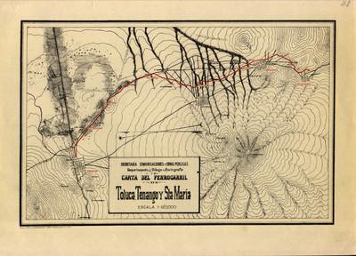 Carta del Ferrocarril de Toluca, Tenango y Sta. María