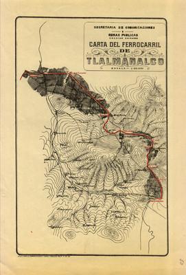 Carta del Ferrocarril de Tlalmanalco