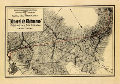 """Carta del Ferrocarril """"Mineral de Chihuahua"""""""