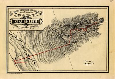 Carta del Ferrocarril Mexicano de la Unión