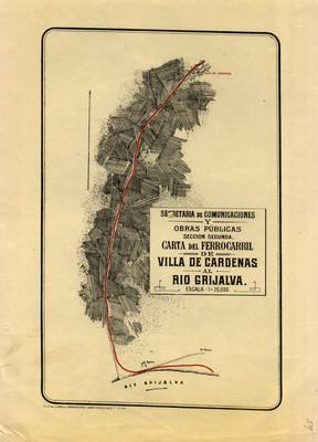 Carta del Ferrocarril de Villa de Cárdenas al Río Grijalva