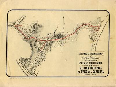 Carta del Ferrocarril de San Juan Bautista al Paso de Carrizal