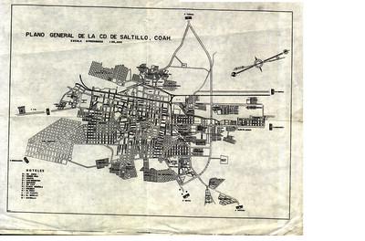 Plano General de la Ciudad de Saltillo, Coahuila