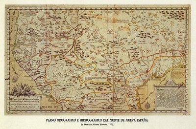 Plano corográfico e hidrográfico de las provincias de el Nuevo México