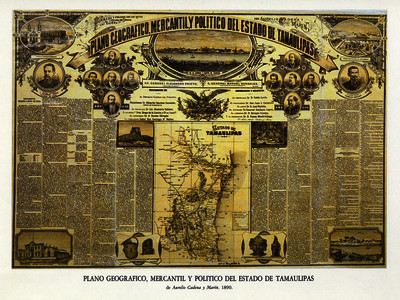 Plano geográfico, mercantil y político del Estado de Tamaulipas