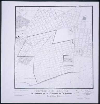 Proyecto de colonia en terrenos de la Hacienda de la Condesa