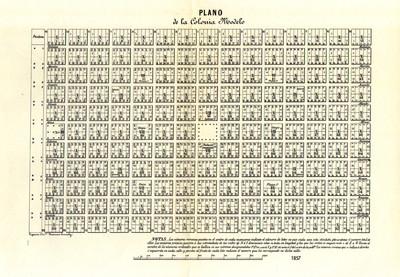 Plano de la Colonia Modelo