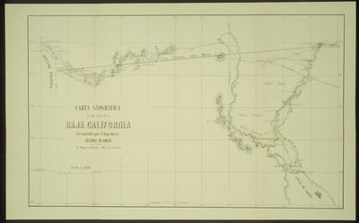 Carta Geográfica de una parte de la Baja California