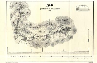 Plano del Camino de Querétaro a Guanajuato